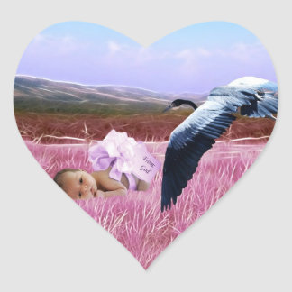 Corazón de la niña calcomanía de corazón personalizadas