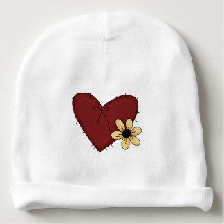 Corazón de la niña y gorrita tejida lindos de la gorrito para bebe