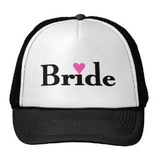 Corazón de la novia gorras