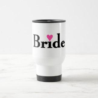 Corazón de la novia taza térmica