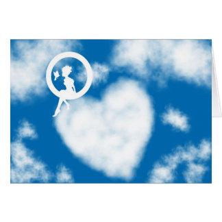 Corazón de la nube tarjeta de felicitación