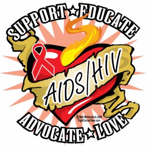 Corazón de la obra clásica de AIDS/HIV Escultura Fotográfica