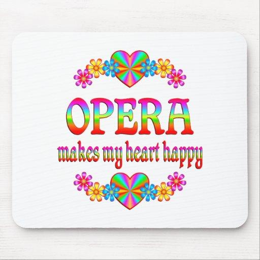 Corazón de la ópera feliz alfombrillas de ratón
