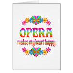 Corazón de la ópera feliz felicitacion