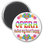 Corazón de la ópera feliz imán de frigorífico