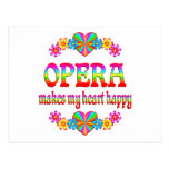 Corazón de la ópera feliz postales