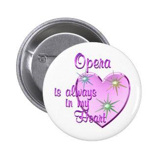Corazón de la ópera pins