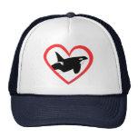 Corazón de la orca gorras