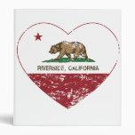 corazón de la orilla de la bandera de California a