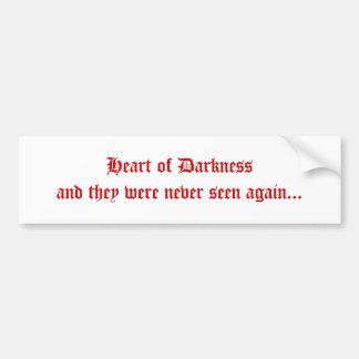 Corazón de la oscuridad pegatina para auto