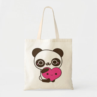 Corazón de la panda bolsa tela barata