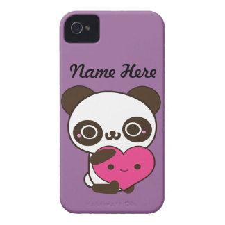 Corazón de la panda iPhone 4 protector