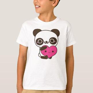 Corazón de la panda remera