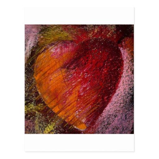 Corazón de la pasión postales