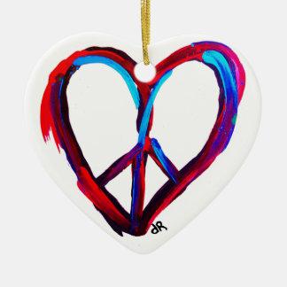 corazón de la paz adorno de reyes