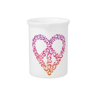 Corazón de la paz jarra de beber