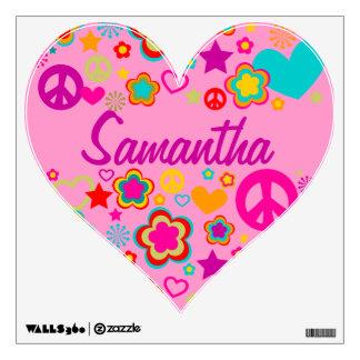 Corazón de la paz y del amor vinilo decorativo