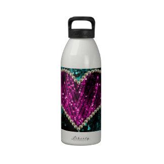 Corazón de la perla botella de agua reutilizable