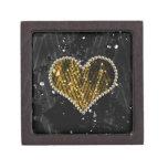 Corazón de la perla del oro cajas de joyas de calidad