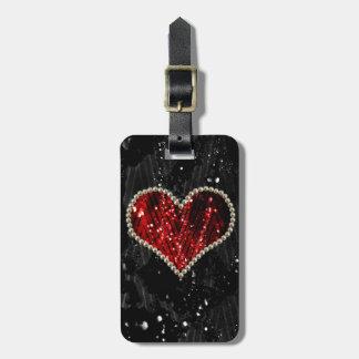 Corazón de la perla etiquetas para equipaje