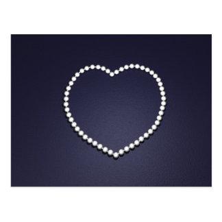 corazón de la perla tarjeta postal
