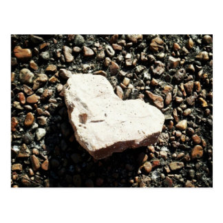 Corazón de la piedra postal