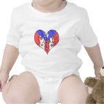 Corazón de la pintada de Puerto Rico Trajes De Bebé