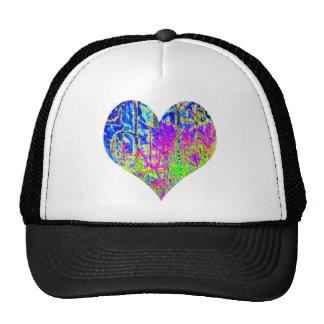 Corazón de la pintada del póker gorras de camionero