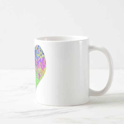 Corazón de la pintada del póker tazas de café