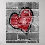 Corazón de la pintada impresiones