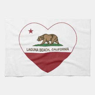 corazón de la playa de Laguna de la bandera de Cal Toalla
