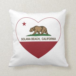 corazón de la playa de Solana de la bandera de Cojín