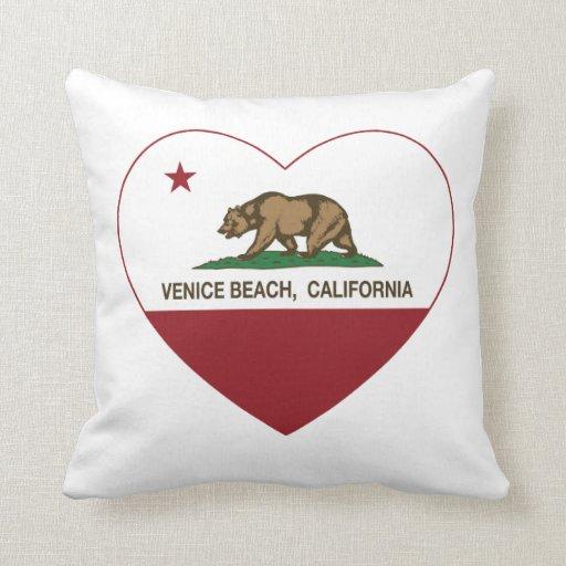corazón de la playa de Venecia de la bandera de Ca Cojin