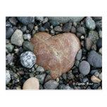 Corazón de la playa postal