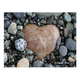 Corazón de la playa tarjeta postal