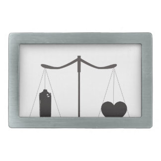 corazón de la poder de aerosol de la justicia hebillas de cinturon rectangulares