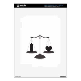 corazón de la poder de aerosol de la justicia iPad 3 pegatina skin