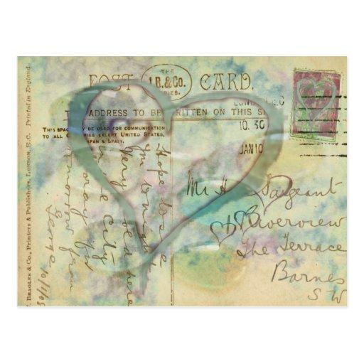 Corazón de la postal