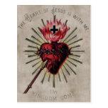Corazón de la postal de Jesús