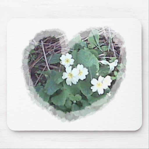 Corazón de la primavera tapetes de ratón