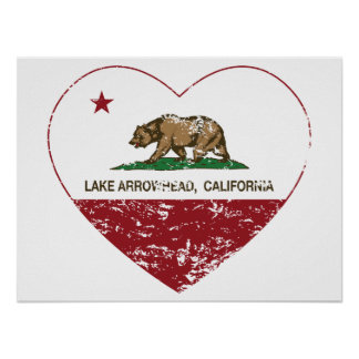 corazón de la punta de flecha del lago de la bande posters