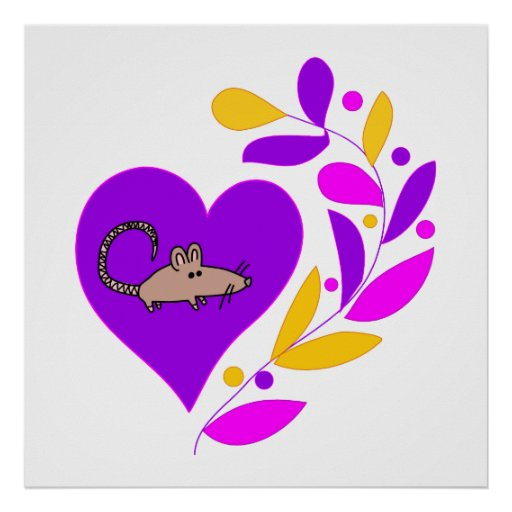 Corazón de la rata impresiones