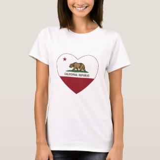 Corazón de la república de California Playera