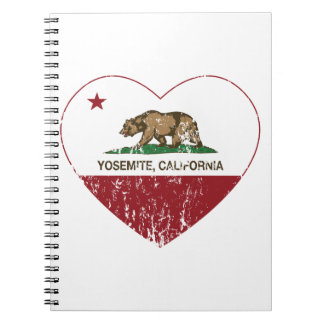 Corazón de la república de Yosemite California ape Spiral Notebooks