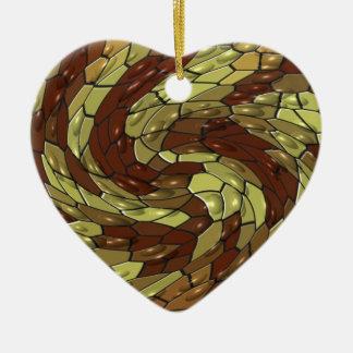 Corazón de la serpiente adorno de cerámica en forma de corazón