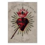 Corazón de la tarjeta de Jesús