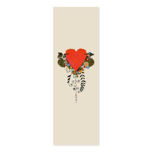 corazón de la tarjeta del día de San Valentín 30s  Plantillas De Tarjeta De Negocio