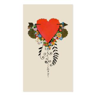 corazón de la tarjeta del día de San Valentín 30s Tarjetas De Visita