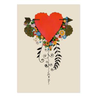 corazón de la tarjeta del día de San Valentín 30s Tarjetas De Visita Grandes