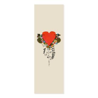 corazón de la tarjeta del día de San Valentín 30s Tarjetas De Visita Mini